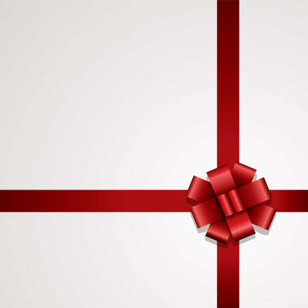 vector gift red ribbon with bow Vector