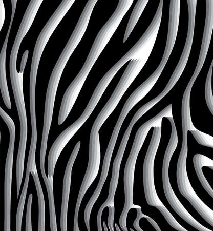 wavy: vector abstract skin texture of zebra hide pattern