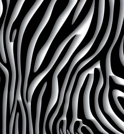 pelo ondulado: vector de textura de la piel de cebra abstracta de patr�n de cuero Vectores