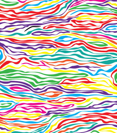 zebra stripes: vector abstract colorful skin texture of zebra  Illustration