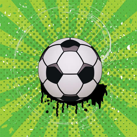 vector grunge illustration of soccer ball Stock Vector - 13082195