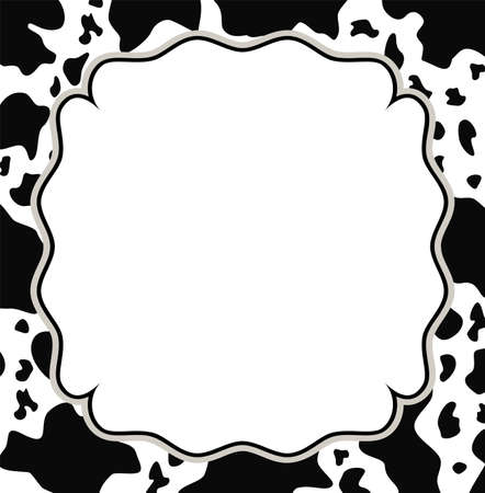 skin structure: vector frame with abstract cow skin texture and copy-space