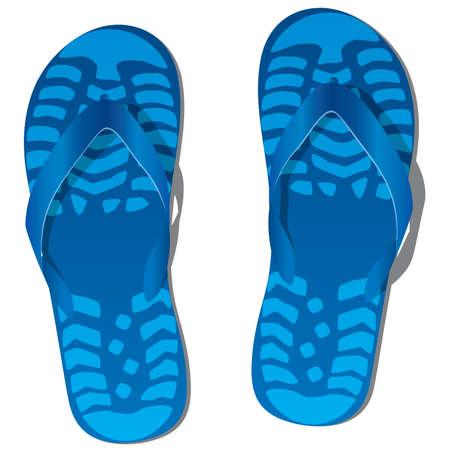 vector pair of flip flops  Stock Vector - 13400464