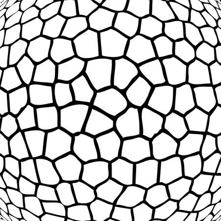 black stone: vector abstract black and white mosaic background