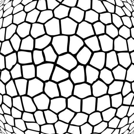 stein schwarz: Vektor abstrakte Schwarz-Wei�-Mosaik-Hintergrund Illustration