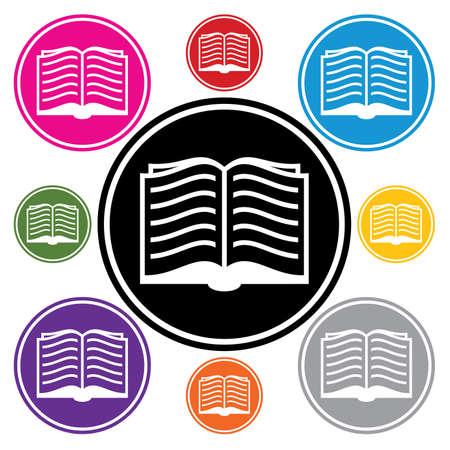 set of book symbols  Vector