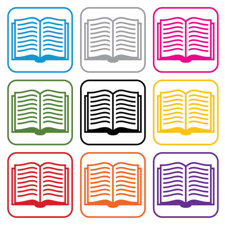 books library: set of book symbols  Illustration