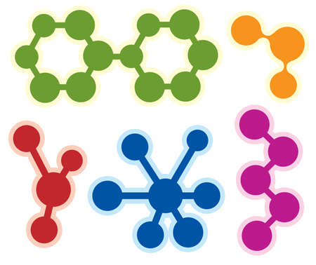 abstract molecule icon set Stock Vector - 14002033