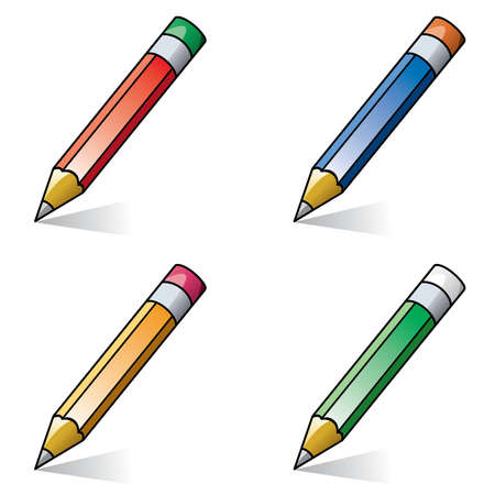 clipart of pencils Vector