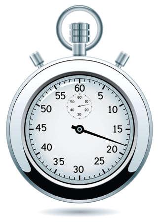 diseño de plata cronómetro