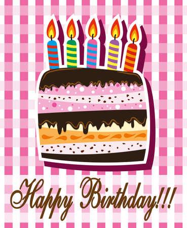 Tort urodzinowy ze Å›wieczkami