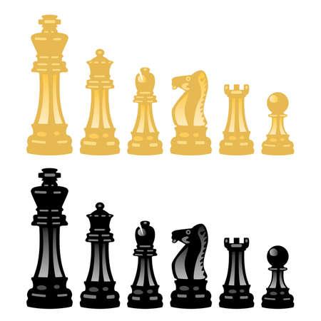 ajedrez: conjunto de piezas de ajedrez