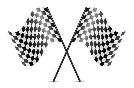 symbol of crossed racing flags Vektorové ilustrace