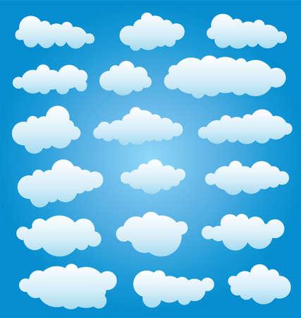 cumulus cloud: design set of clouds in the sky