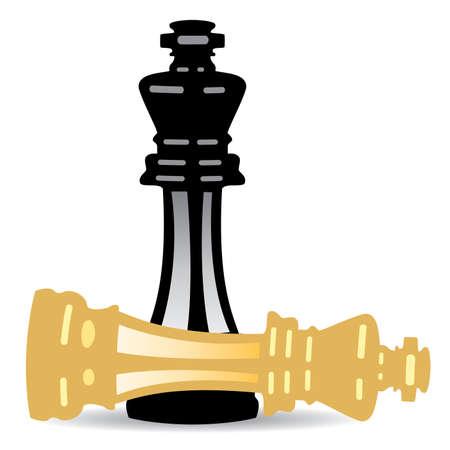 Schachmatt: Illustration der K�nig schachmatt Illustration