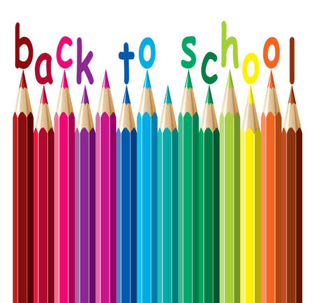 colorful pencils. back to school  Vector
