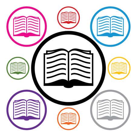 set of book symbols Stock Vector - 14751447