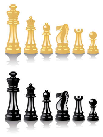 set of chess pieces  Vector