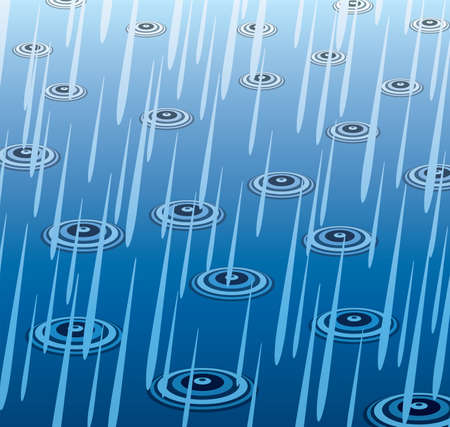 downpour: illustration of heavy rain