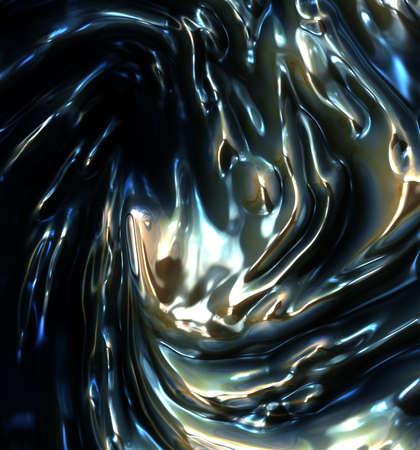 liquid metal: metallo liquido sfondo astratto Archivio Fotografico