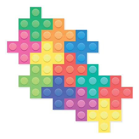 building blocks: vector plastic blocks background