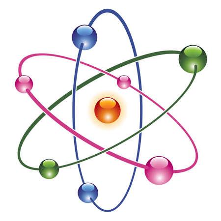 molecula: vector abstracto �tomo icono del dise�o