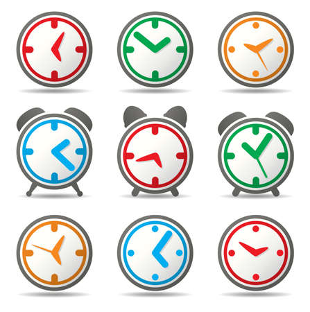 vector design of clock symbols Vector