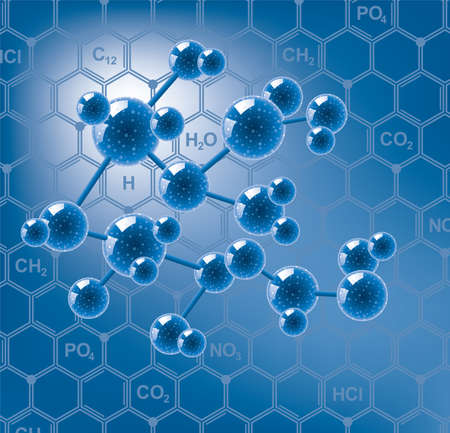 vector abstract molecule or microbe background Stock Vector - 15908437