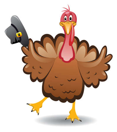 vector turkey clipart for thanksgiving day  Illustration