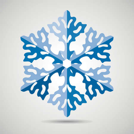 origami snowflake background Vector