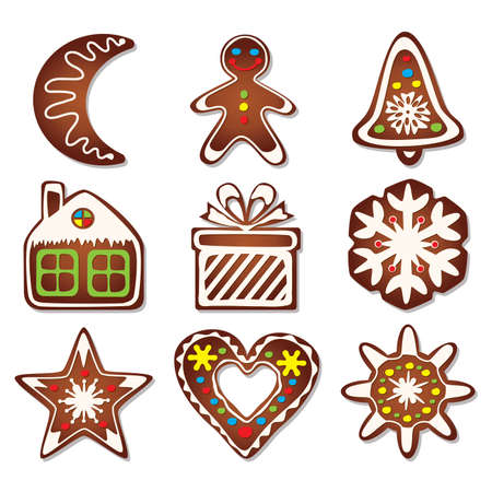 vector design of gingerbread cookies  Vector
