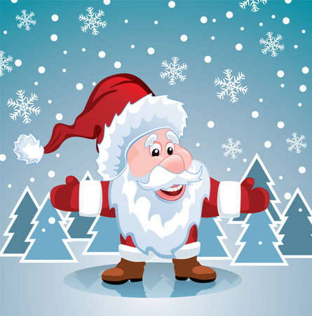 vector christmas illustration of santa claus Stock Vector - 16589089