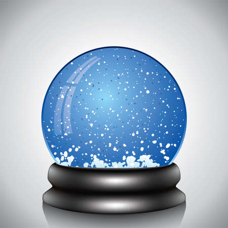 snowdome: vector illustration of snow globe  Illustration