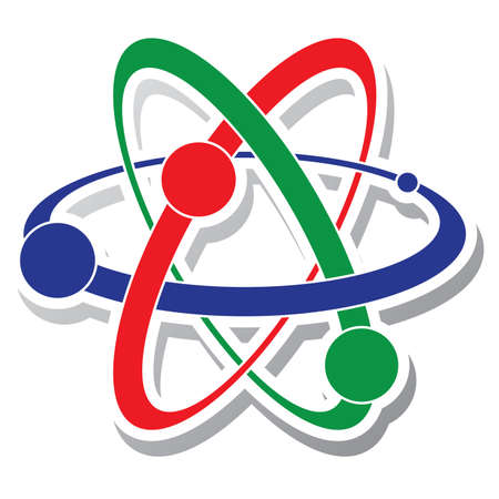 abstract science icon of atom Vector