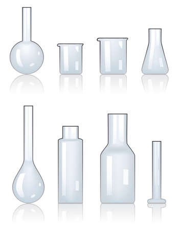 drug discovery: set of laboratory glassware
