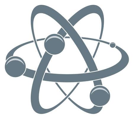 atom symbol: abstract science icon of atom Illustration
