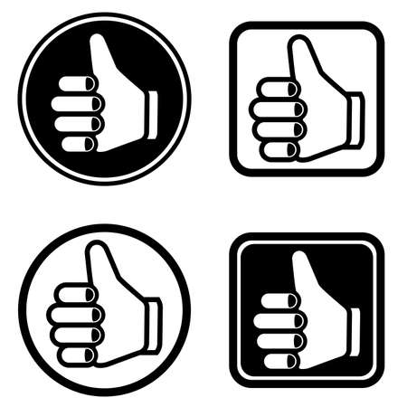 thumb up icons set Vector