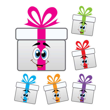 vector set of colorful gift box symbols Stock Vector - 17682351