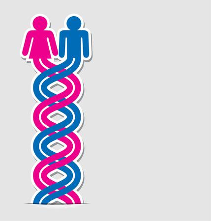 gender: vector symbol of love between man and woman