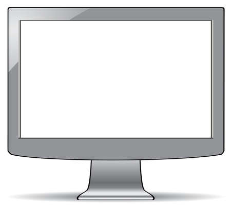 gray computer LCD screen with white display Stock Vector - 17682349