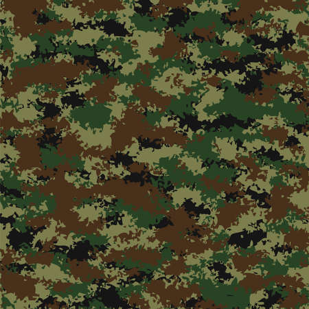 camuflaje: vector verano grunge patrón de camuflaje Vectores