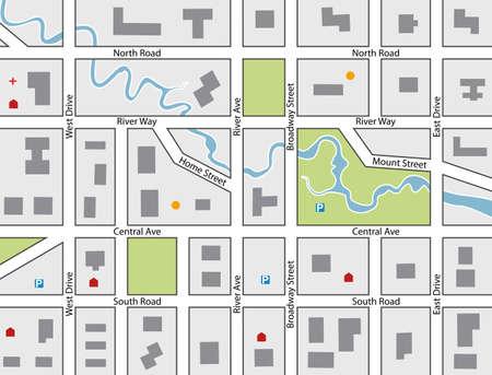 町の道路地図