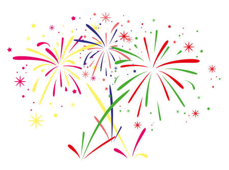 abstracte verjaardag vuurwerkachtergrond