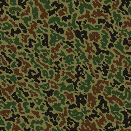 militaire zomer camouflage patroon Stock Illustratie