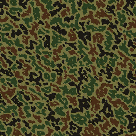 army background: military summer camouflage pattern  Illustration