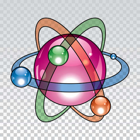 atomic symbol:  nuclear atom icon design