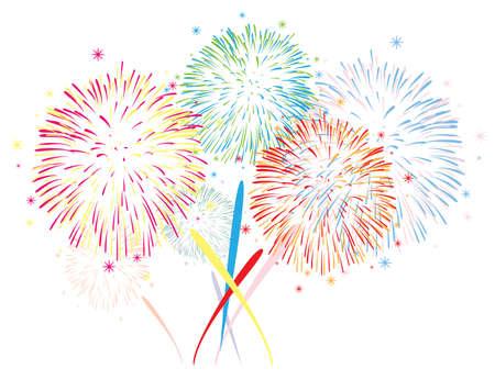 抽象的な記念日の花火の背景  イラスト・ベクター素材