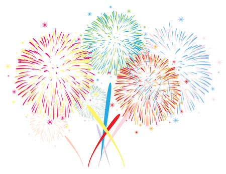 abstract anniversary fireworks background