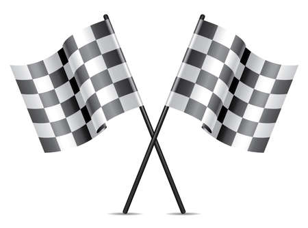 checkered racing flags icon Vector