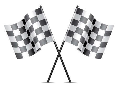 checkered racing flags icon Stock Vector - 21393277